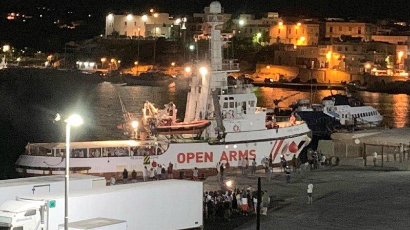 Italie: les migrants secourus en Méditerranée par l'Open Arms ont débarqué à Lampedusa