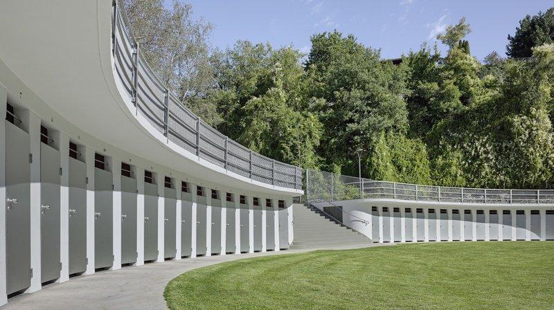Les Bains de Géronde et leurs cabines historiques sont au programme de la balade architecturale.
