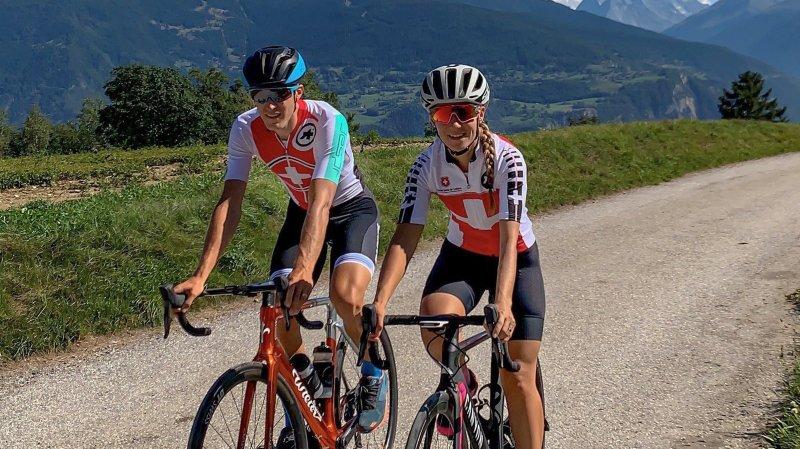 Fabien et Nathalie Monnier porteront le même maillot lors des Mondiaux Gran Fondo en Pologne.