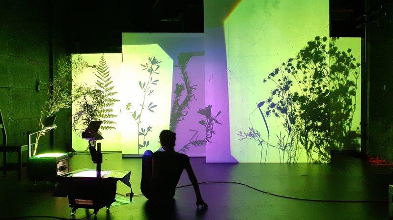 Dans le premier spectacle, trois rétroprojecteurs dessinent des ombres, des silhouettes, des images sur des tableaux blancs pour évoquer l'enfance.