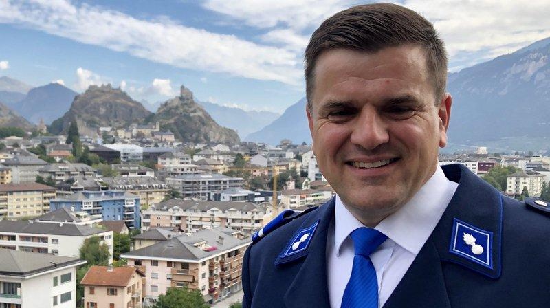 Yves-Antoine Mayoraz est le nouveau chef de la gendarmerie valaisanne.