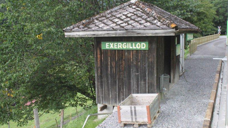 Le malheureux a disparu près de la petite gare d'Exergillod (illustration).