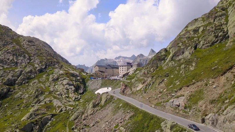 «Le Valais depuis les airs»: la région du Grand-Saint-Bernard