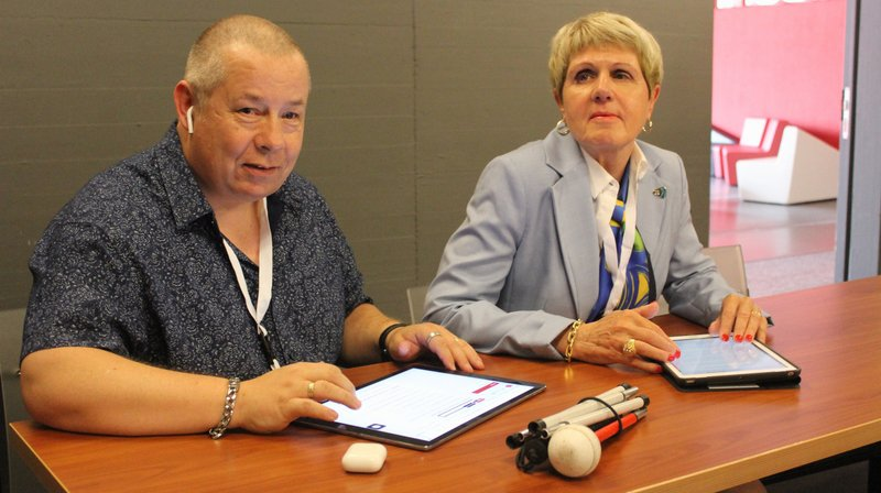 Une application pour mieux apprendre à défendre les droits des personnes handicapées présentée à Sierre