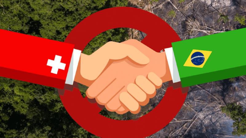 La pétition demande que la Suisse renonce à signer cet accord à moins qu'il ne contienne des sanctions efficaces contre les violations des droits de l'homme ou le non-respect de normes environnementales et sociales strictes pour tous les pays du Mercosur.