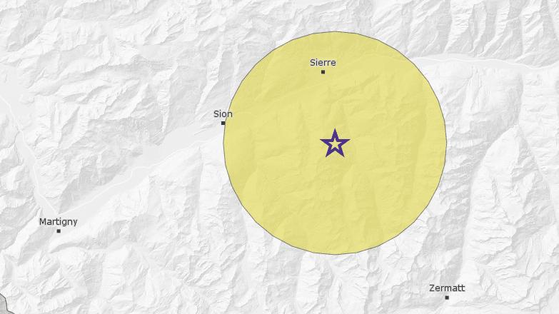 Un séisme de magnitude 2.9 a secoué la région sierroise vendredi matin.