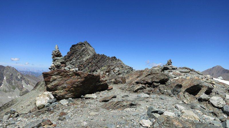 Le Pigne de la Lé, l'un des passages intéressants du Trail du Besso.