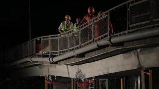 Autoroute A9: la passerelle endommagée à Chailly détruite durant la nuit