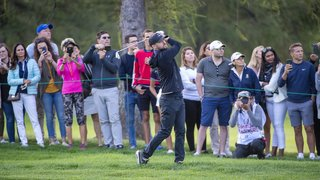 Golf: devant ses fans, Justin Timberlake assure le spectacle à Crans-Montana