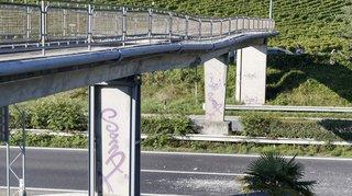 Vaud: l'A9 entre Vevey et Montreux fermée dans les deux sens au moins jusqu'à mardi matin