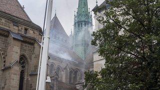 Exercice à la cathédrale Saint-Pierre