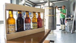 Clin d'œil à la fusion, la Balade de la bière de Vollèges s'offre une escapade en territoire bagnard