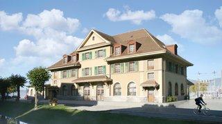 La commune de Port-Valais a pris place dans l'ancienne gare du Bouveret