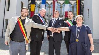 Sierre a renouvelé son serment de jumelage avec Aubenas, Cesenatico, Schwarzenberg et Zelzate