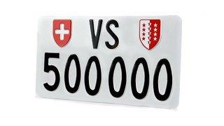 Plaques d'immatriculation: le Valais a dépassé le VS 500 000