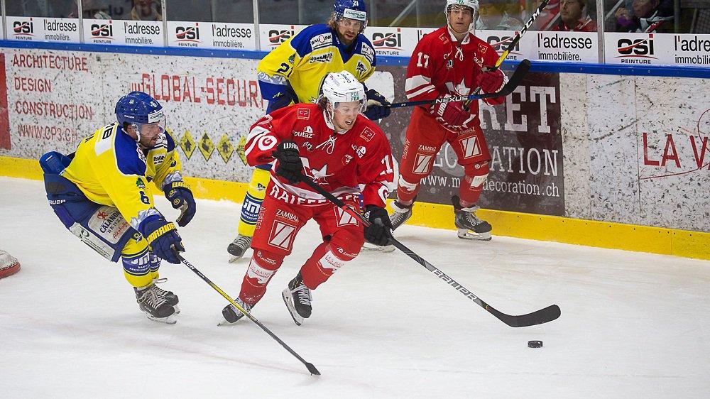 Le HCV Martigny a inscrit un but lors de chaque tiers.