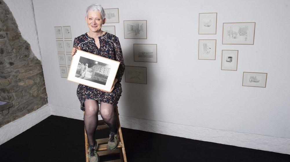 La dessinatrice Hélène Becquelin fait jaillir du crayon son enfance valaisanne aux Dilettantes à Sion.