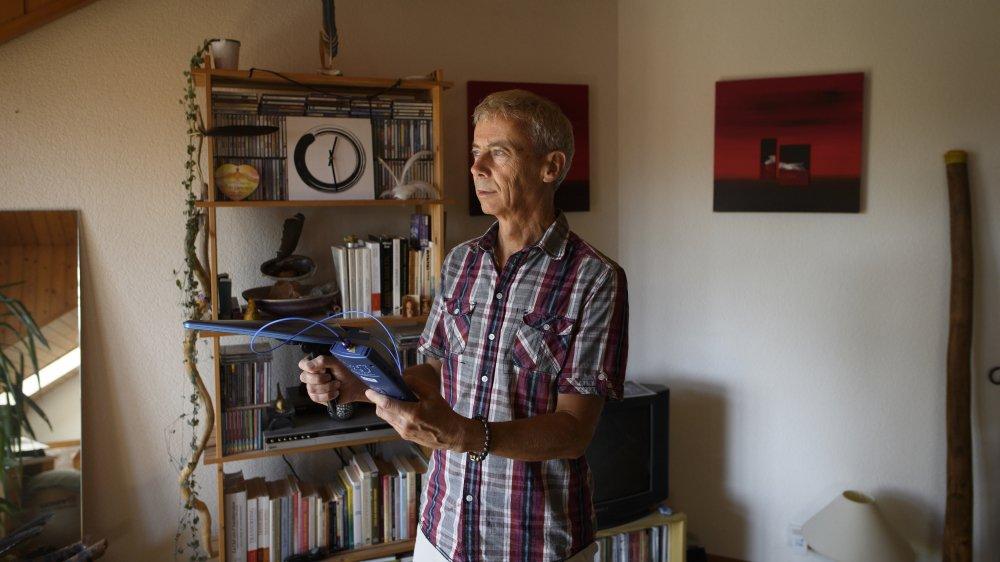 Olivier Bodenmann analyse régulièrement les fréquences dans ses murs.