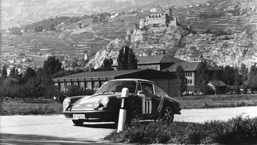 Jean Gay, vainqueur du Rallye du vin en 1973, lors de la spéciale des Casernes.