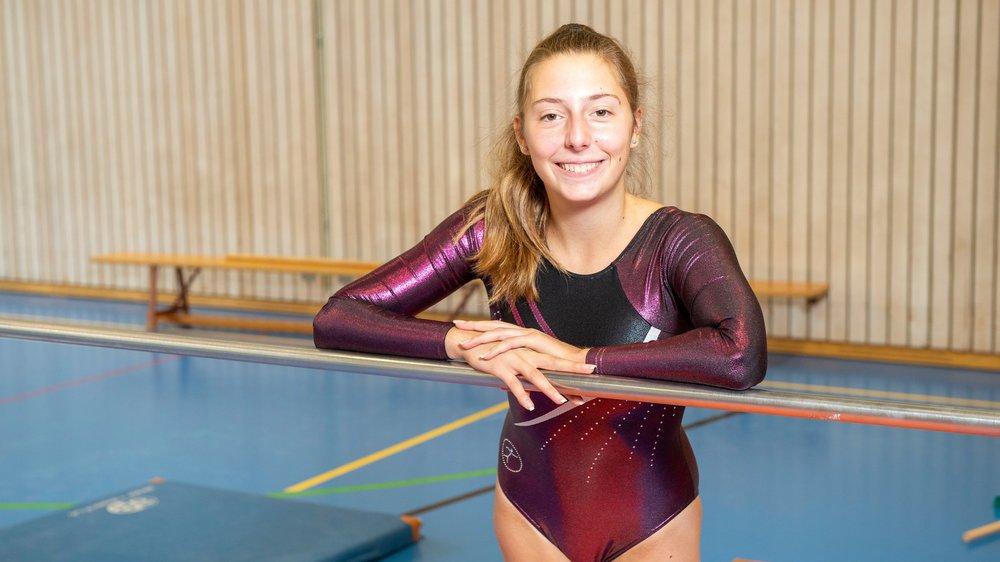 La jeune fille fait partie de la Société Uvrier-Sports depuis ses 8 ans.