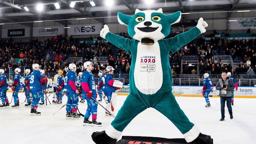 Yodli, la mascotte de Lausanne 2020 pour les Jeux olympiques de la jeunesse d'hiver. La nouvelle patinoire de Lausanne accueillera les épreuves sur glace.