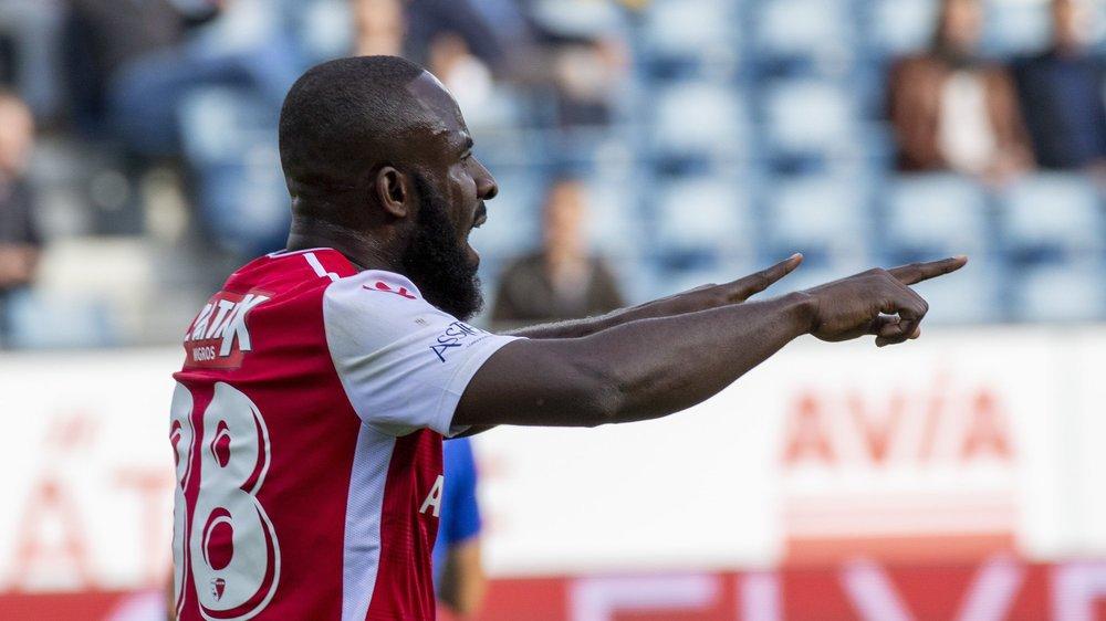 Seydou Doumbia jubile après avoir ouvert la marque contre Lucerne