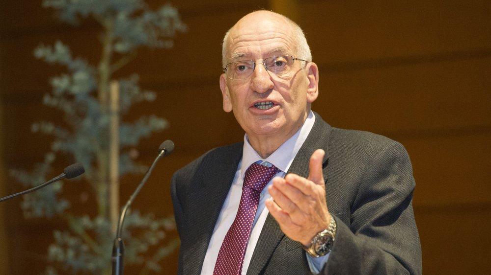 Lors de l'assemblée du PLR, Pascal Couchepin a avoué qu'il allait voter pour Mathias Reynard   Sacha Bittel/Archive