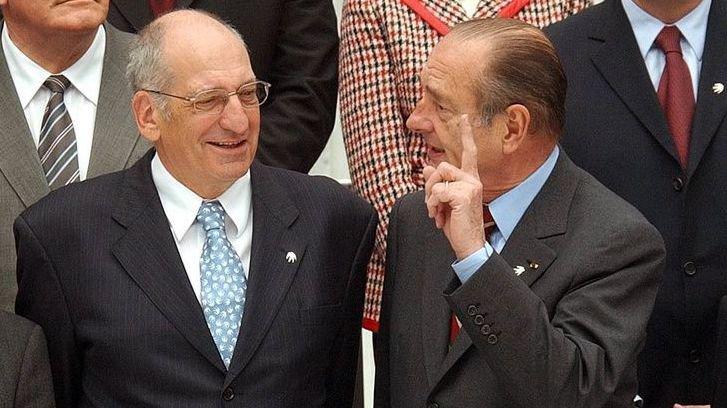 Le conseiller fédéral Pascal Couchepin a rencontré à plusieurs reprises Jacques Chirac, comme ici à Athènes en 2003.