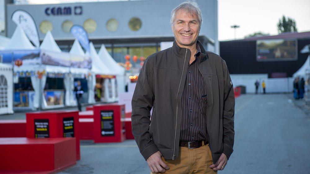 «Je me suis lancé dans l'aventure spatiale par hasard en répondant à une annonce, alors que j'étais au chômage», nous a confié Olivier Moulin jeudi à la Foire du Valais.