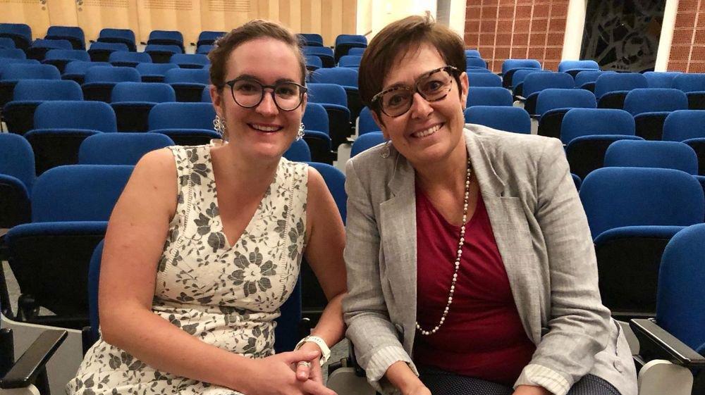 Sarah Constantin (PS) et Chantal Voeffray-Barras (PDC) sont les deux coprésidentes de Solidarité Femmes Valais.