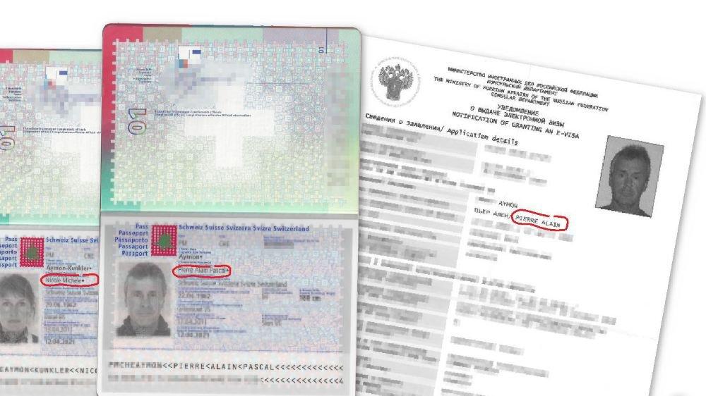 Pierre-Alain Aymon reconnaît avoir commis une erreur en ne faisant pas apparaître son troisième prénom et le deuxième prénom de sa femme sur la demande de visa.