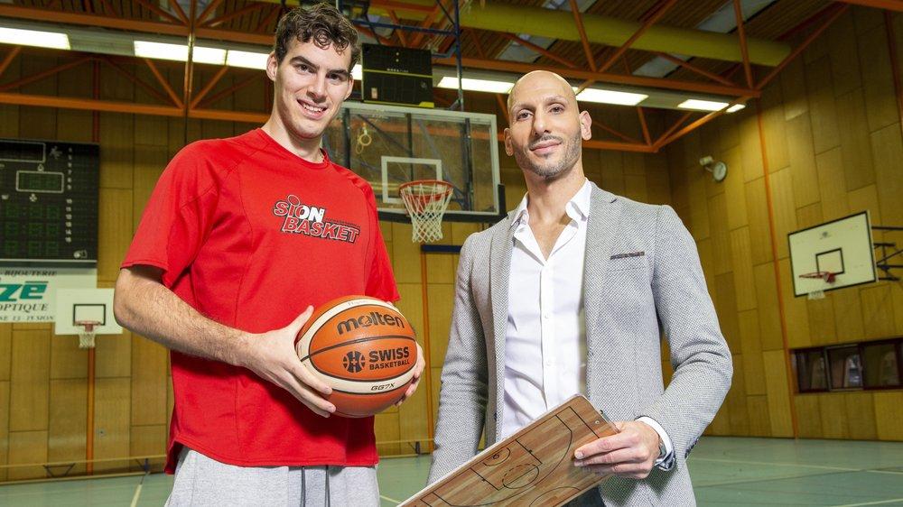 L'entraîneur Domenico Marcario et le mercenaire Eduardo Perez veulent participer au développement de Sion Basket.