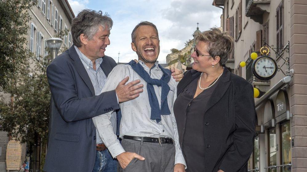 Ils l'ont attendue cette victoire...Jean-Pascal Fournier, Christophe Clivaz et Marylène Volpi ont mis longtemps à y croire dimanche.