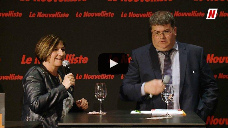 Fédérales 2019: face à face sur la thématique de l'AVS entre Carole Furrer PDC et Christophe Claivaz PLR