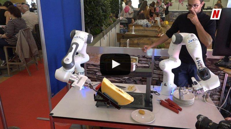 """Foire du Valais: le """"robotclette"""" aux fourneaux avec Eddy Baillifard, entre innovation et tradition"""