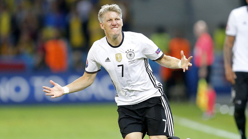 Bastian Schweinsteiger a notamment porté à 121 reprises le maillot de la Mannschaft, avec laquelle il a remporté la Coupe du monde en 2014. (Keystone archive)