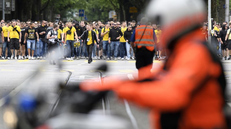 La Ville de Berne a demandé à la police de mettre en place un important dispositif sécuritaire. (illustration)