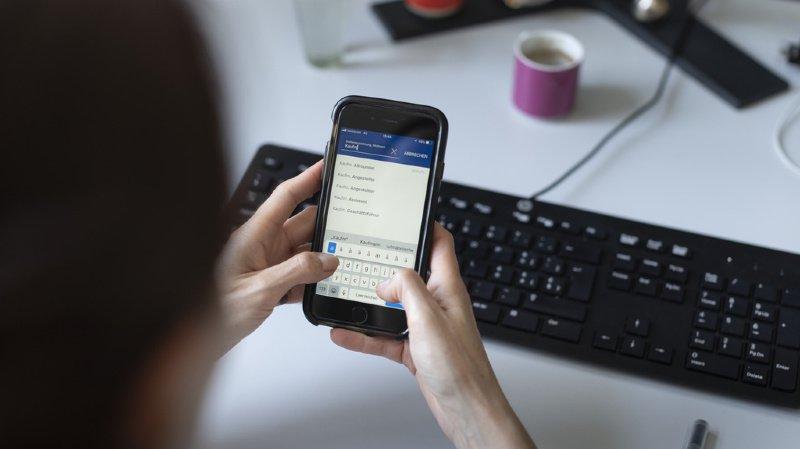 La vitesse de frappe sur les smartphones rattrape celle des claviers physiques. (illustration)