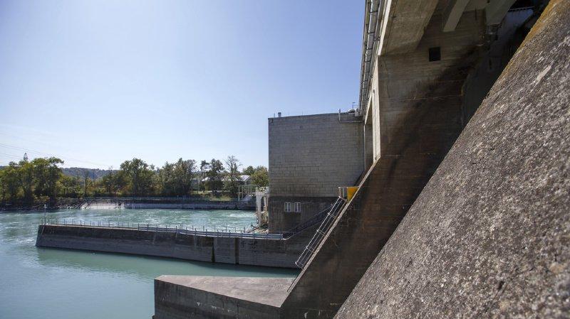 C'est à proximité du barrage de Verbois que le corps a été retrouvé.