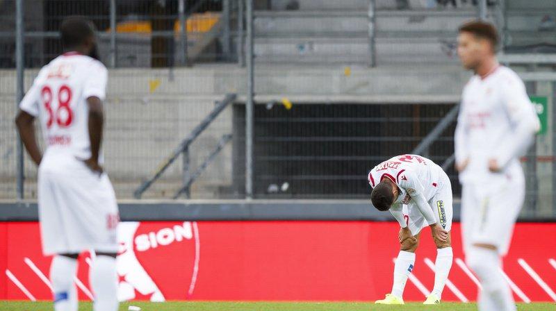 La série négative continue pour les joueurs sédunois qui ont concédé une troisième défaite de rang face à Lugano.