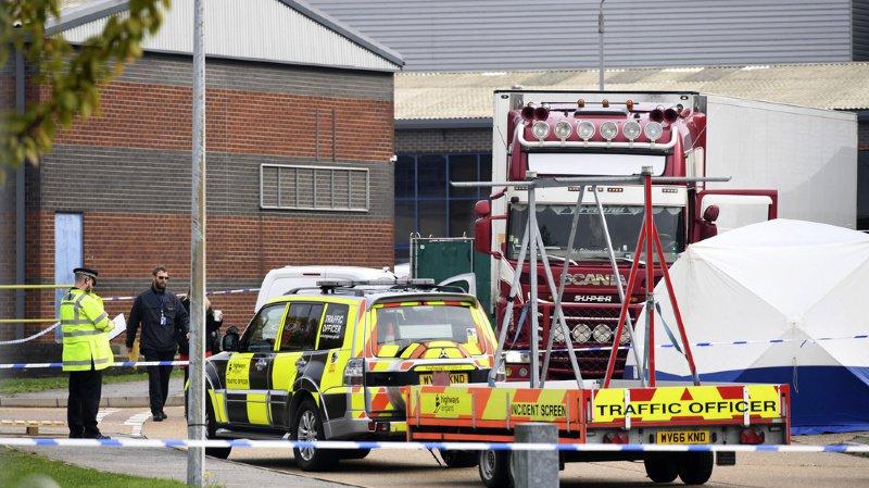 Grande-Bretagne: 39 corps ont été découverts dans un camion près de Londres