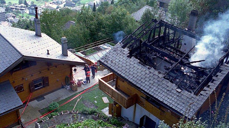 """Le chalet """"La Roche de Cristal"""" à Salvan où s'est noué le drame en octobre 1994."""