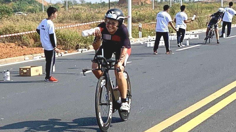 Un souci électronique sur son vélo n'a finalement pas trop pénalisé Joanna Ryter.