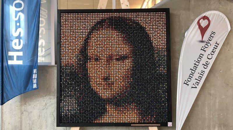 Sierre: la mythique «Joconde» revisitée avec 4030 capsules de café