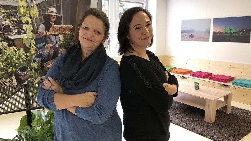 Muriel Perruchoud (à gauche) et Sandrine Rudaz ont ouvert la Maison des cultures de Sierre en 2017.