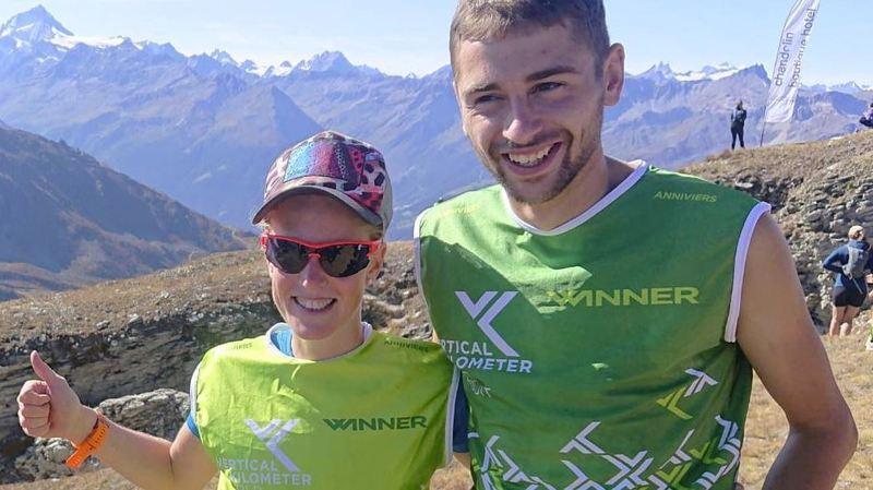Les deux vainqueurs du jour, Victoria Kreuzer et Daniel Osanz.