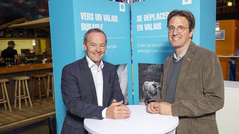 A la Foire du Valais, Vincent Pellissier et Alain Barbey disent leurs vérités sur la mobilité