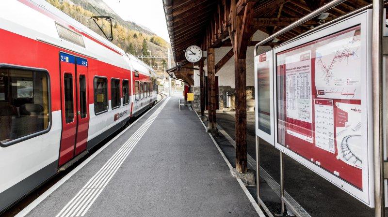 Des bus remplaceront le train pendant quelques jours pour rejoindre Orsières.