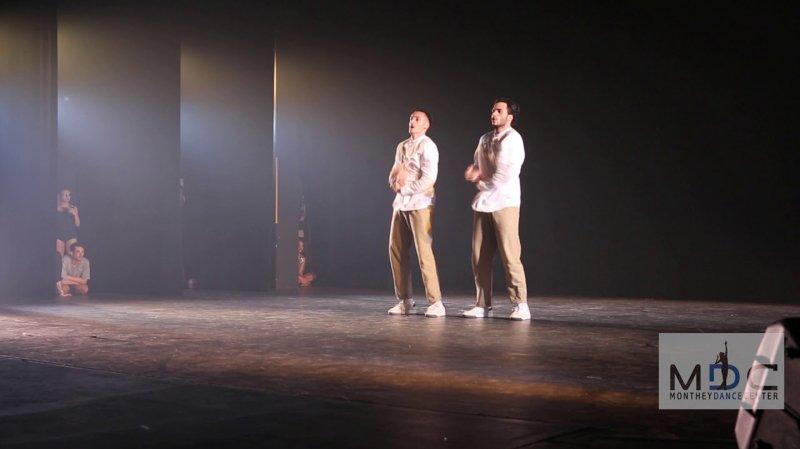 Le duo de jeunes danseurs Cooper & Voldo.