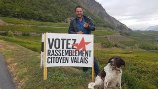«Le Nouvelliste» est parti en campagne avec Jean-Marie Bornet (Rassemblement Citoyen Valais)